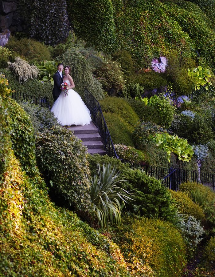 The Butchart Gardens offers a one-of-a-kind venue for couples who dream of a beautiful garden wedding