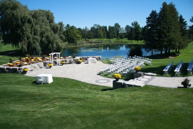 Dundee Country Club's Outdoor Patio Waterside Wedding Ceremonies