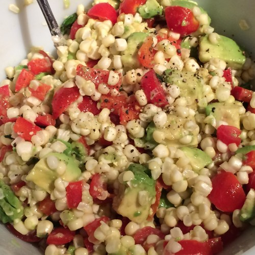 Corn Avocado Salad with Honey Lime Vinaigrette | The Weekday Gourmet