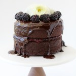 blackberry+ chocolate ganache cake