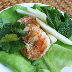 Lemongrass Shrimp with Minted Apples