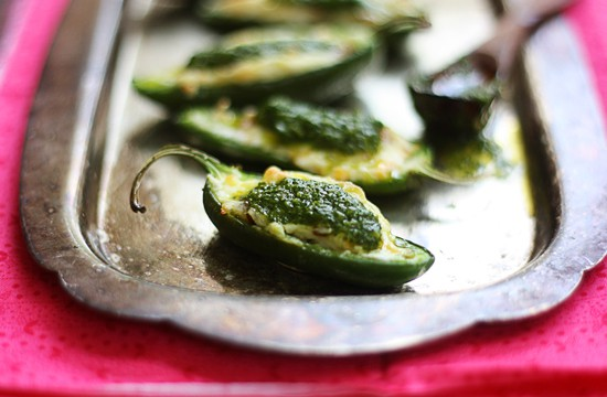 super sexy jalapenos with cilantro sauce