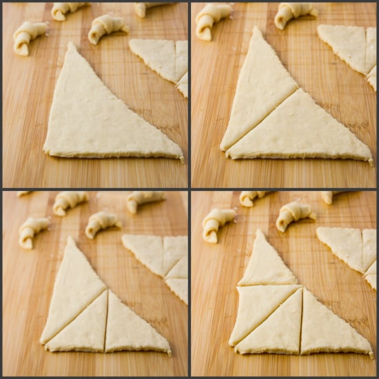 how to cut crescent roll dough