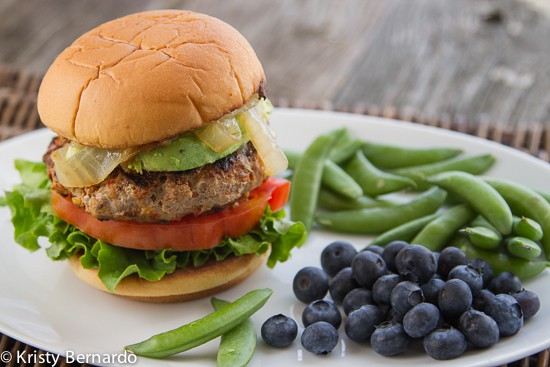 salsa ranch & veggie turkey burgers