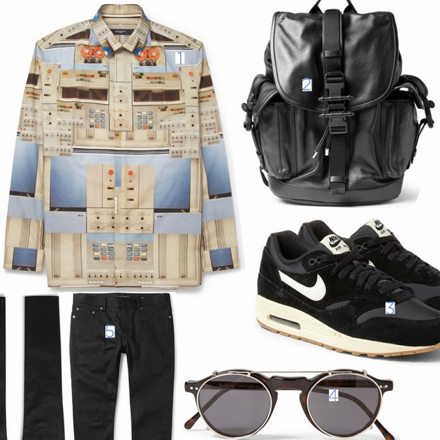 outfit-selection-givenchy-spring-summer-2014-robot-shirt-nike-shoes