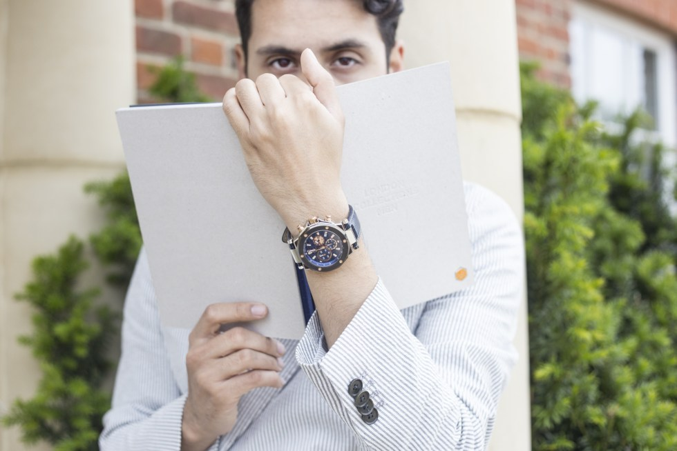 Menswear blogger Ronan Summers taking over GC watches instagram account for LCM