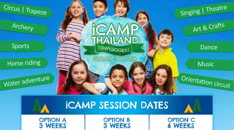 iCamp Thailand promotional poster