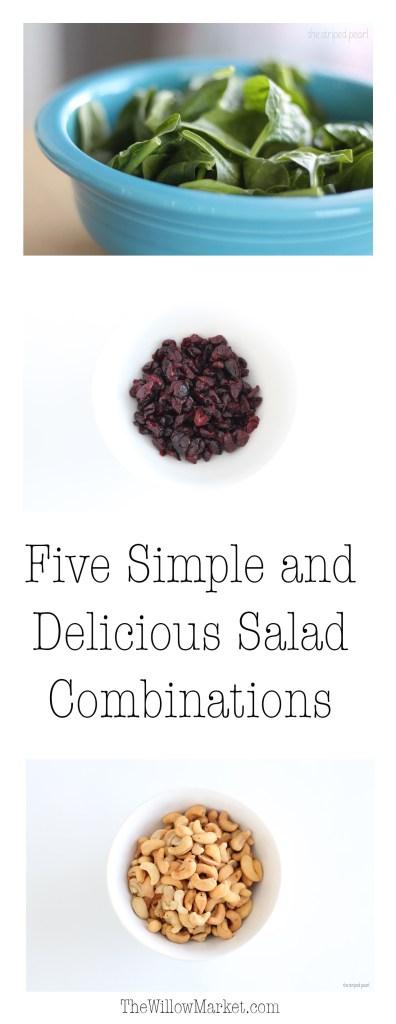 Salad Recipes. Salad combinations. Easy and basic salad combinations.