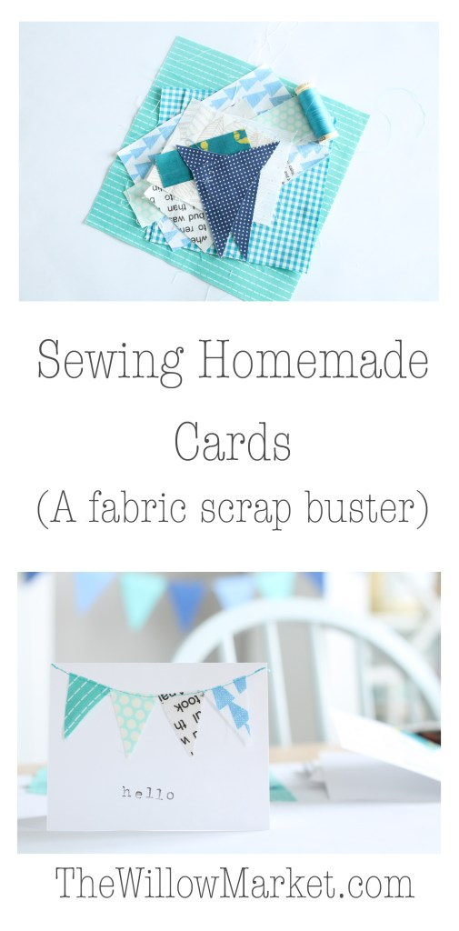 Sewing Homemade cards. A fabric scrapbuster.