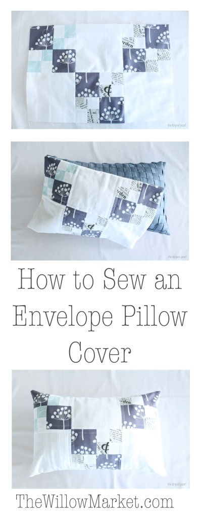 How to sew an envelope pillow cover. Easiest way to sew a pillow cover.
