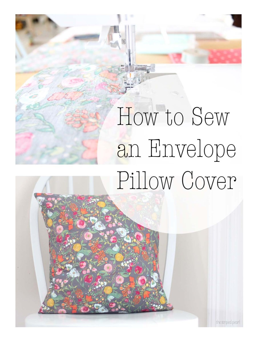 How to Sew a Pillow Cover for a 16 by 16 inch Pillow Form ...