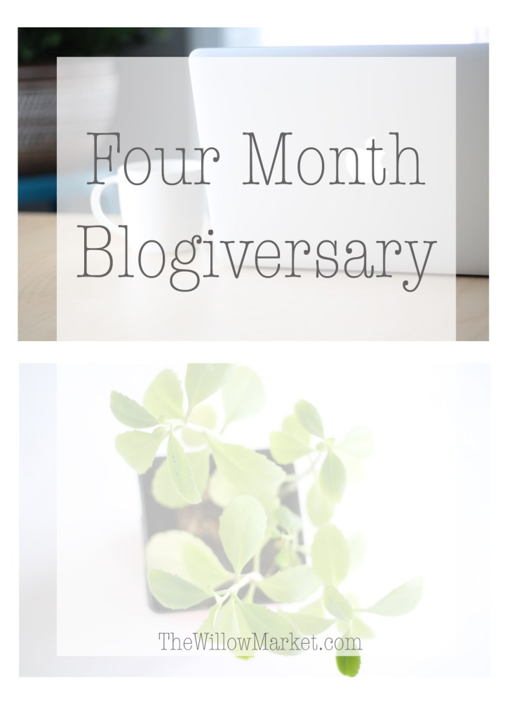 Blogging for four months. Four  month blogging anniversary.