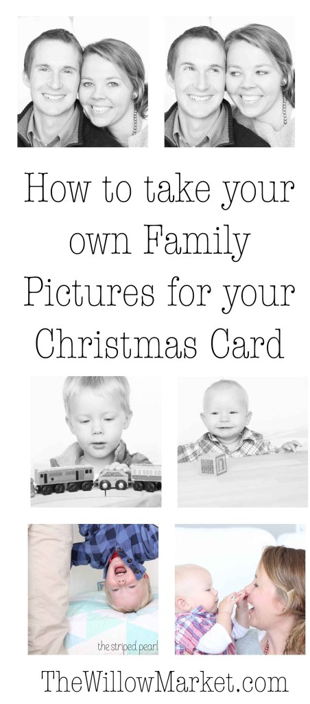 How to take your own family pictures for your Christmas cards.
