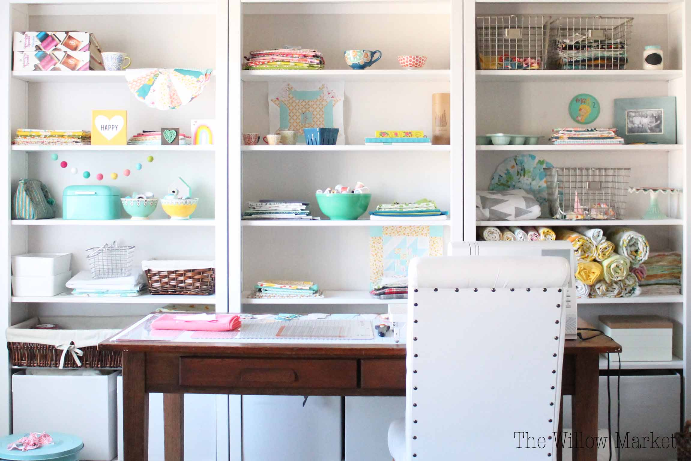 A Few Months Ago, I Posted The Before And After Pictures Of My Sewing +  Craft Space. It Was A Space That Severely Needed Some Organization.