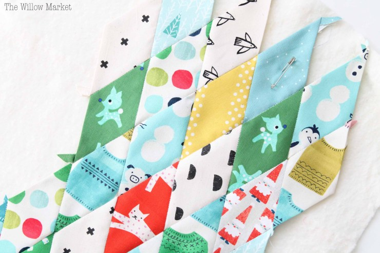 What is English Paper Piecing? Sewing with Diamonds. Christmas Stocking.