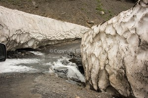 Even in June the winter snows remain along the Tusheti Road