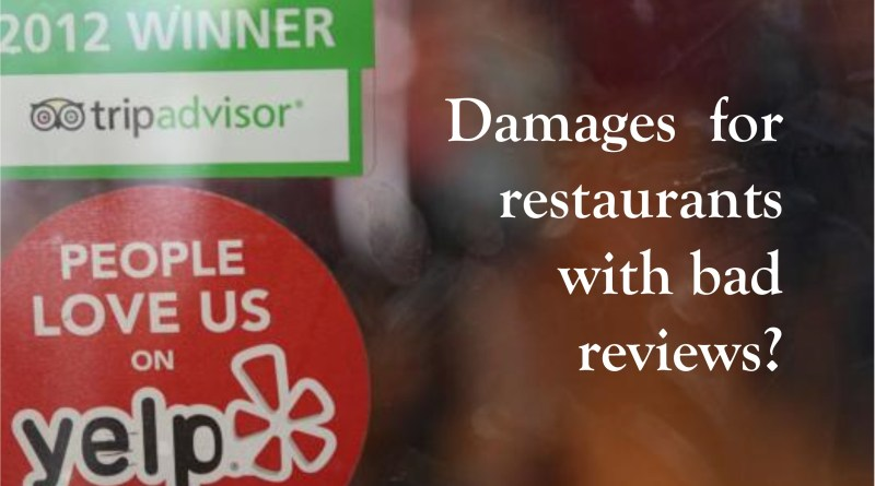 Does Yelp owe damages
