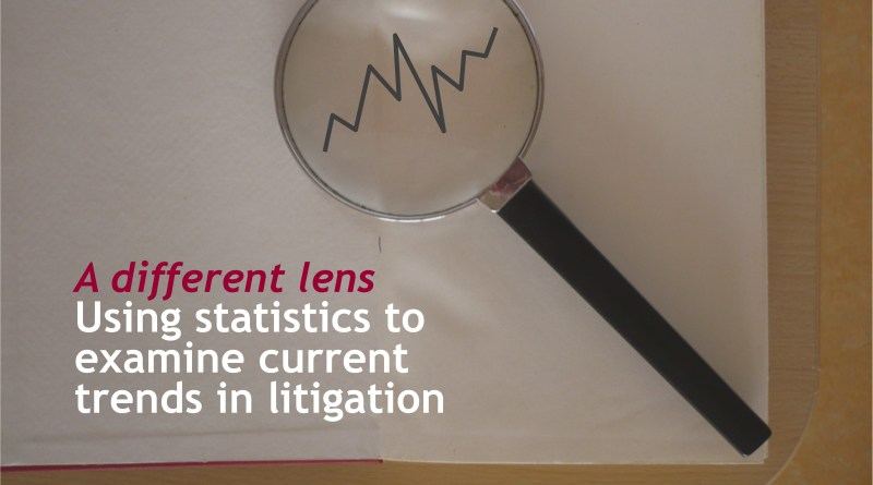 Statistics to explore litigation