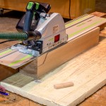 I used my T55 Festool saw to cut the tapers on all the legs