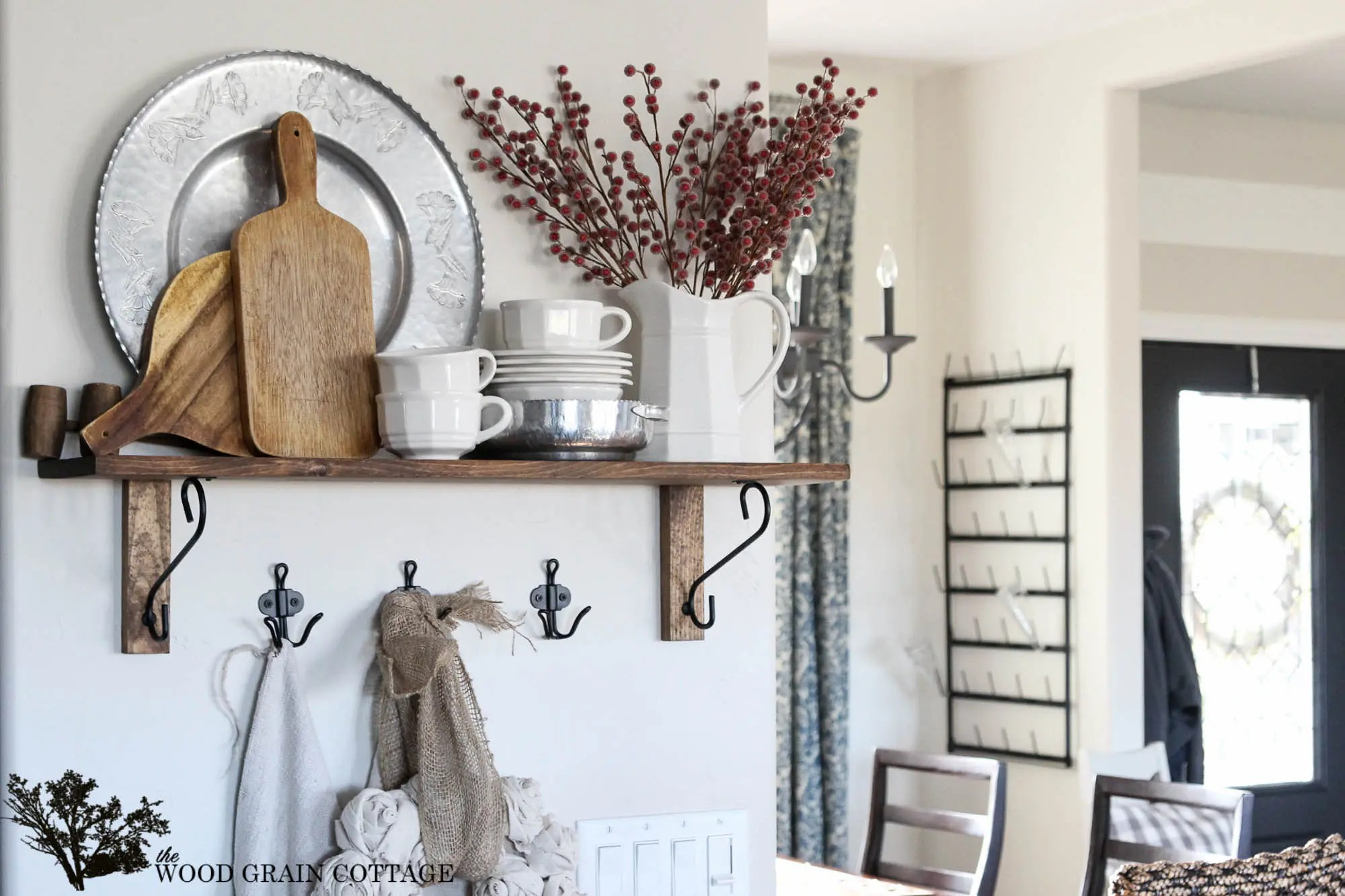 Outstanding Kitchen Shelf Decorating By Wood Grain Cottage Kitchen Shelf Wood Grain Cottage Home Decor Wall Shelving Ideas Home Decor Shelving Ideas home decor Home Decor Shelving