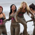 The Only Way Is Essex girls go mud wrestling at boot camp  5