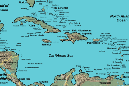 700px caribbean islands locator map
