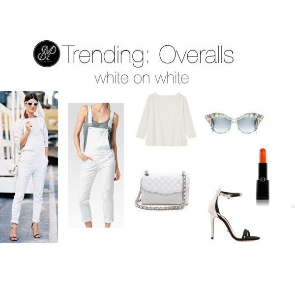 overalls white