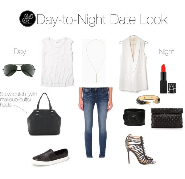 day-to-night date look