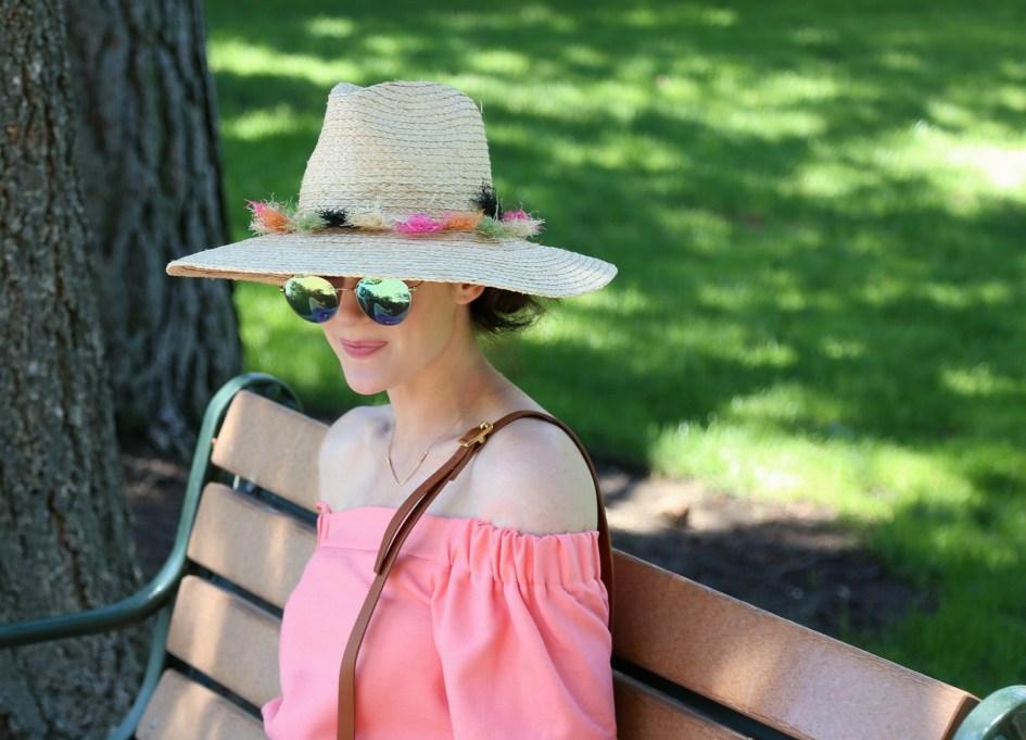 Pink Pom Hat 8a