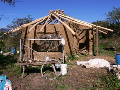 Cob House Under Construction