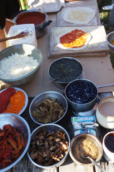 Outdoor Pizza Oven: Pizza Toppings Spread
