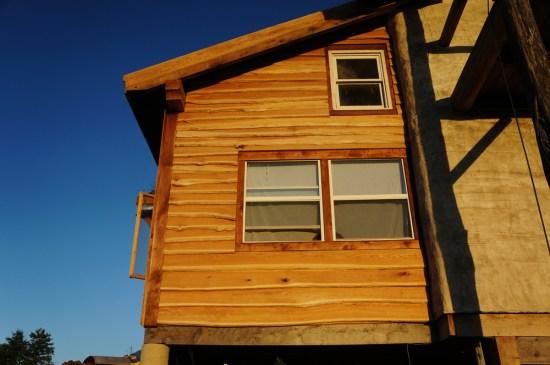 Straw Bale House: Live Edge Siding