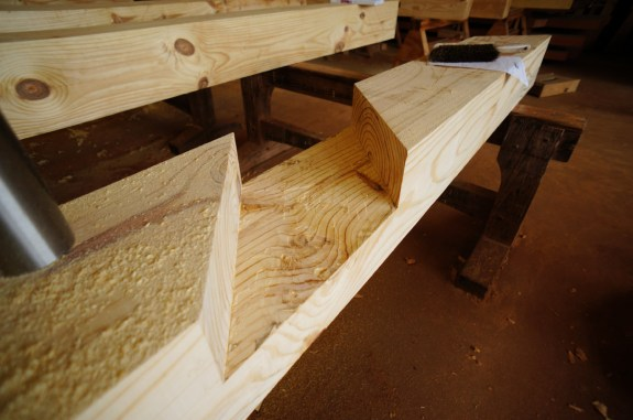 Timber Frame Angled Lap Joint