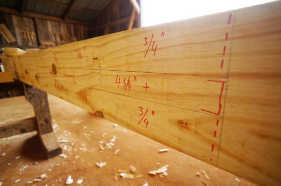 Timber Frame Pavilion Layout