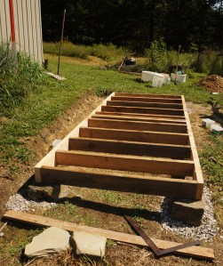 Simple outhouse foundation