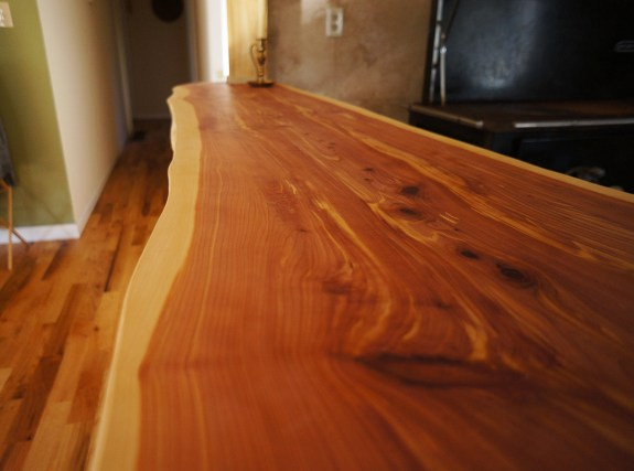 live edge wood countertop
