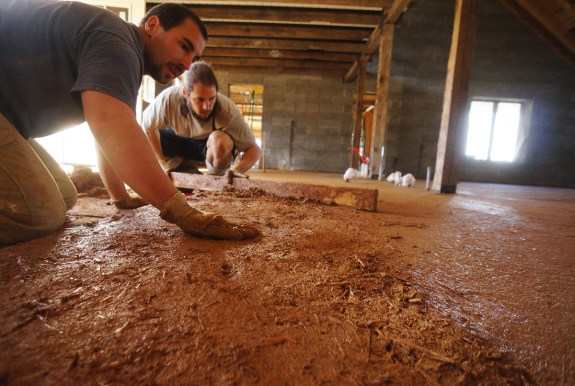 installing an earthen floor