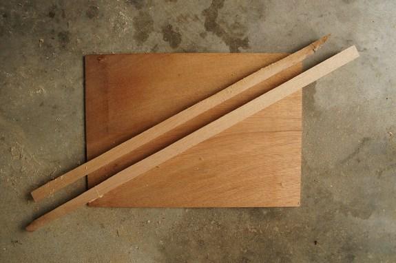 Japanese plaster hawk - materials