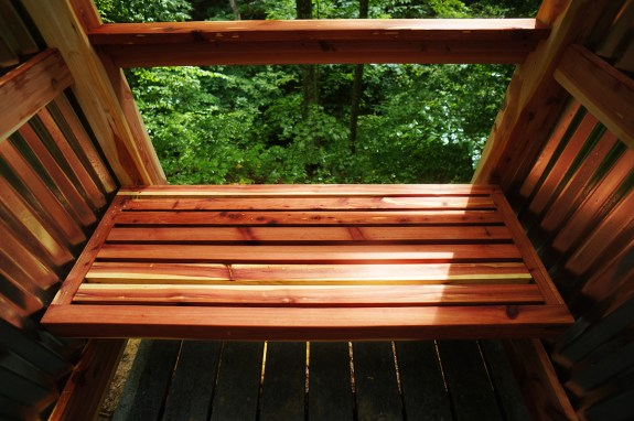 outdoor shower - bench 01