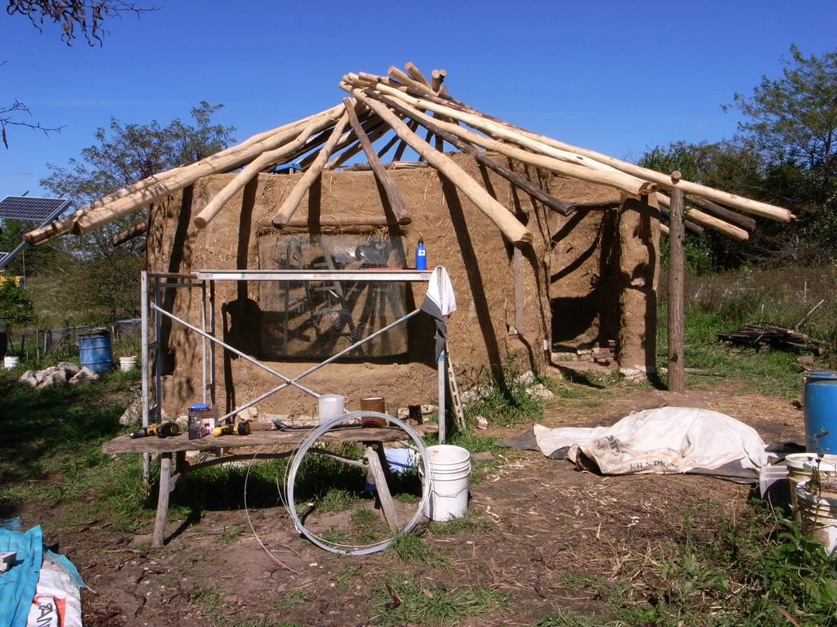You can build this cob house for 3000 the year of mud for House roof construction