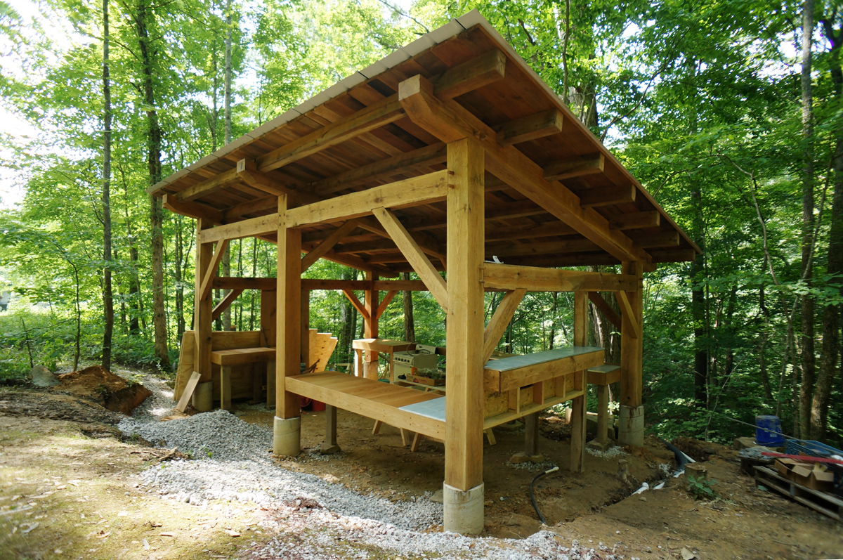 Timber Frame Pavilion Wrapped Up The Year Of Mud