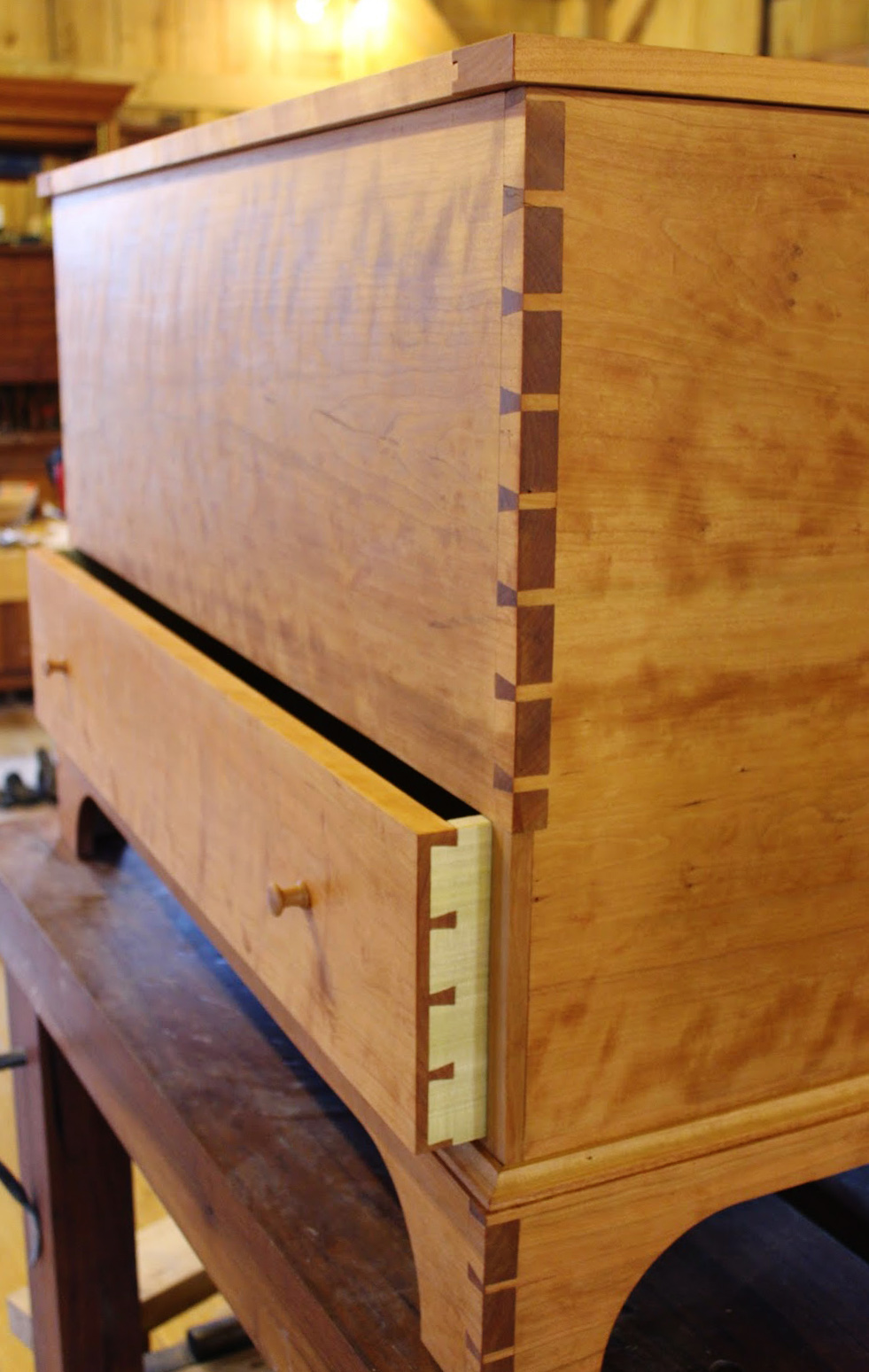 Cherry shaker blanket chest plans the year of mud
