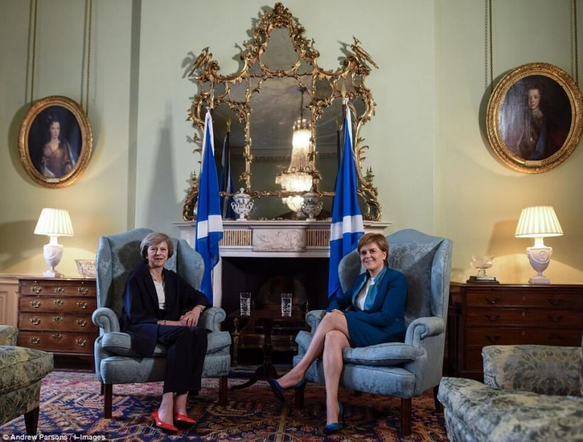 Theresa May and Nicola Sturgeon. Source: The Daily Mail