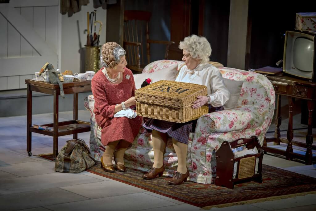 Nichola McAuliffe as Agatha Christie (left) and Susie Blake as Margaret Rutherford (right) had fantastic chemistry. Photo Credit: Anthony Robling.