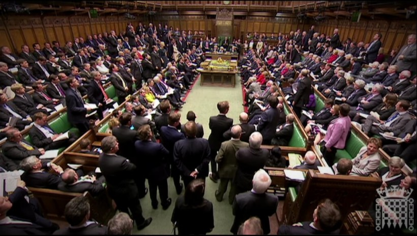 Wide shot of House of Commons chamber