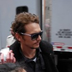 Franco at the filming of Third Person in NYC