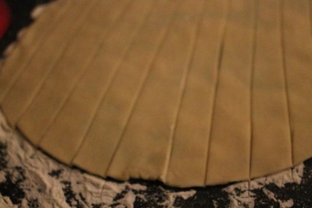 Slices of Pie Crust for Lattice Top