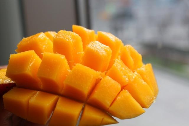 Scored mango.