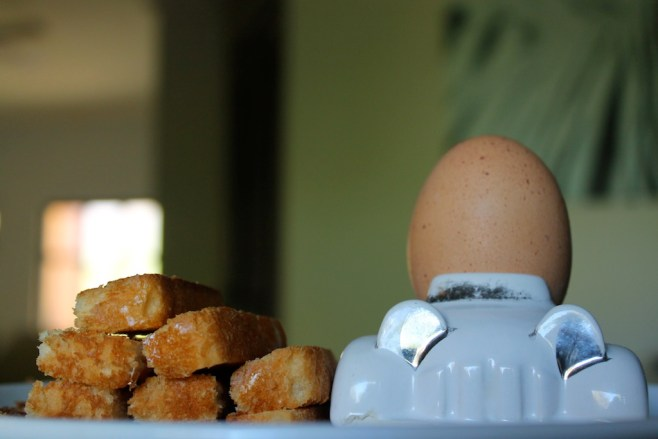 Boiled egg and soldiers (toast)