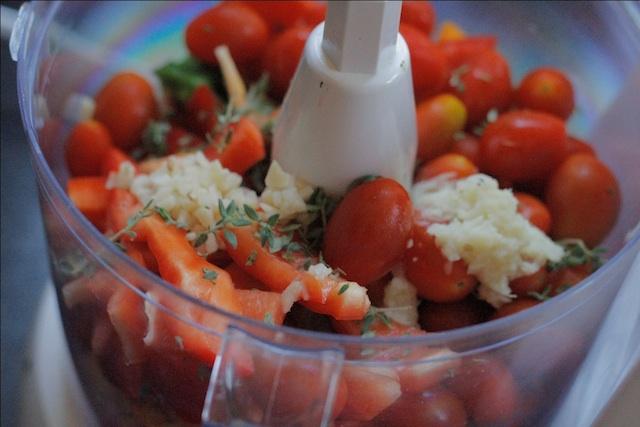 Chopped Vegetables & Herbs for Chilli Jam
